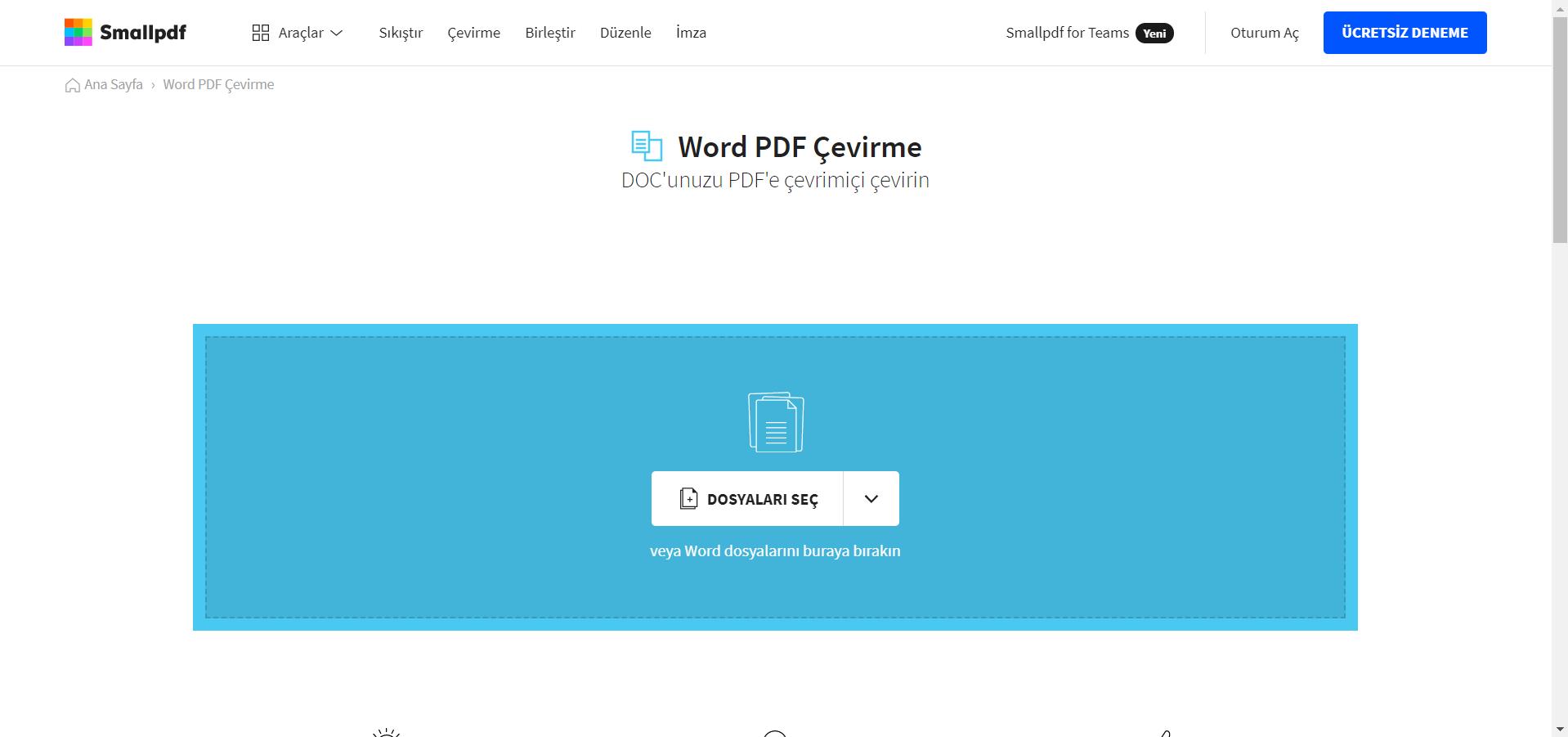 PDF dönüştürme sitesi