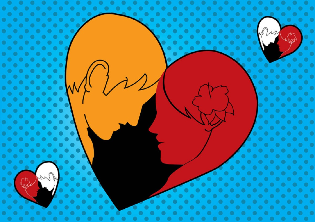 FreeVector Loving Man Woman Heart